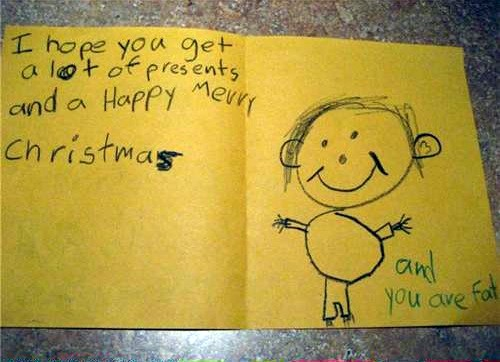 Child Can T Find Original Crayon To Write Christmas Card Postscript