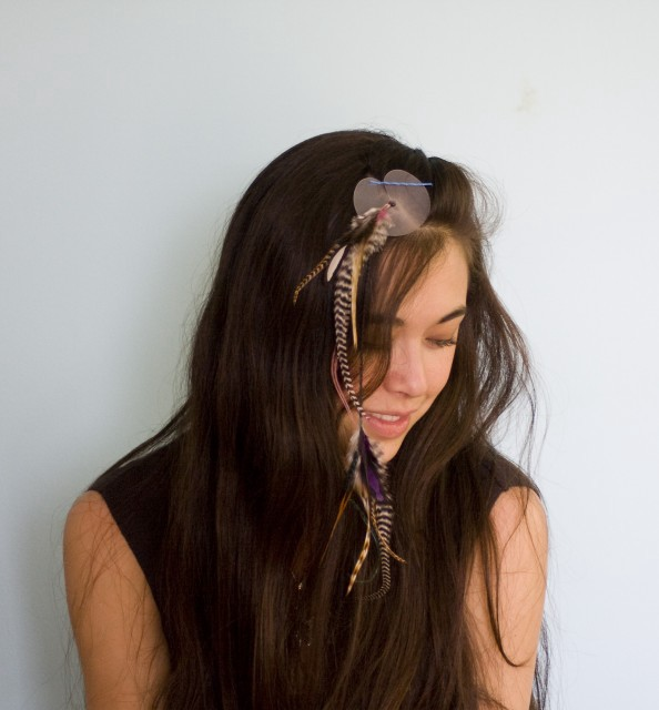 Give Yourself Feather Hair Extensions The Hairpin