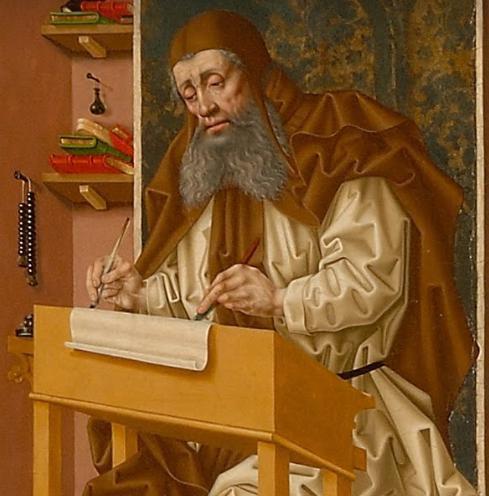 Eadmer of Canterbury Writing ca 1140 CLOSEUP.P