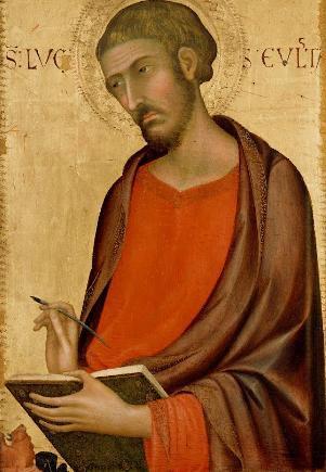 St Luke--Simone Martini--ca 1330