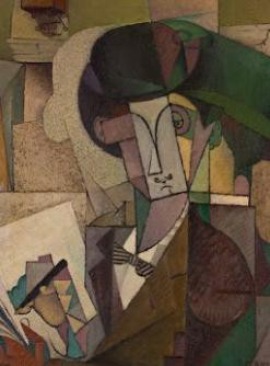 16-Young Man with a Fountain Pen--Diego Rivera--1914