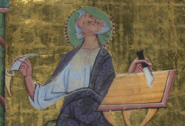 Portrait of the Evangelist Mark mid 11th century--German