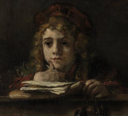 Titus at his Desk--Rembrandt--1655