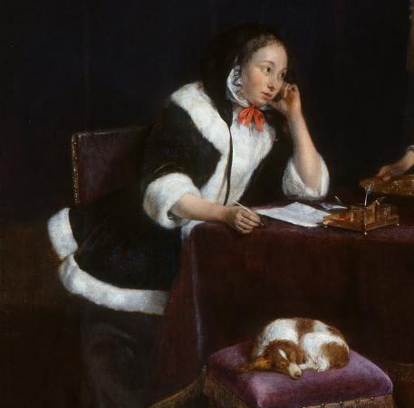 The Letter--Gerard ter Borch--ca 1660-1665