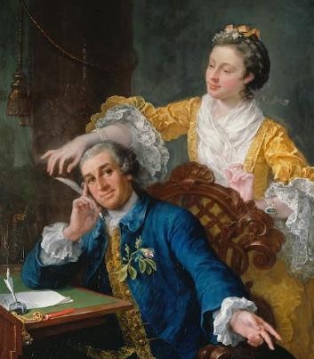 David Garrick with his wife Eva-Maria Veigel--William Hogarth