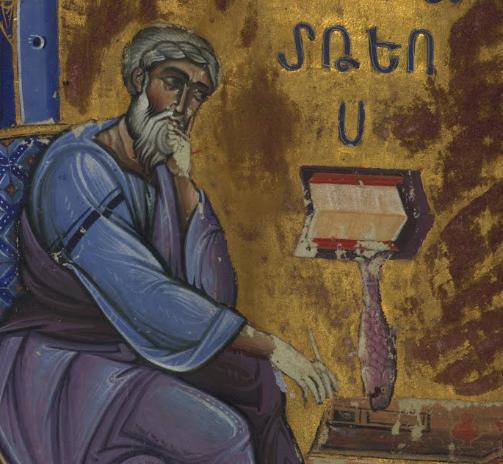 Evangelist Matthew Seated Dipping Pen in Inkwell--T'oros Roslin 1262