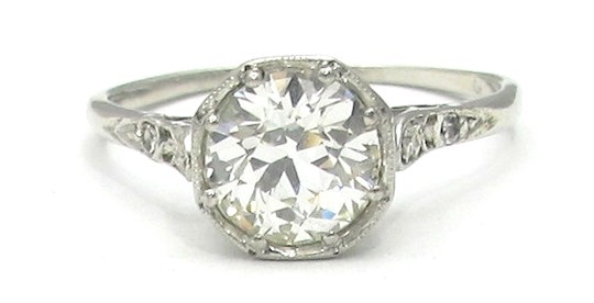 Wedding Ring Resale 84 Unique Vintage diamond ring with