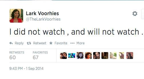 Lark Voorhies Twitter