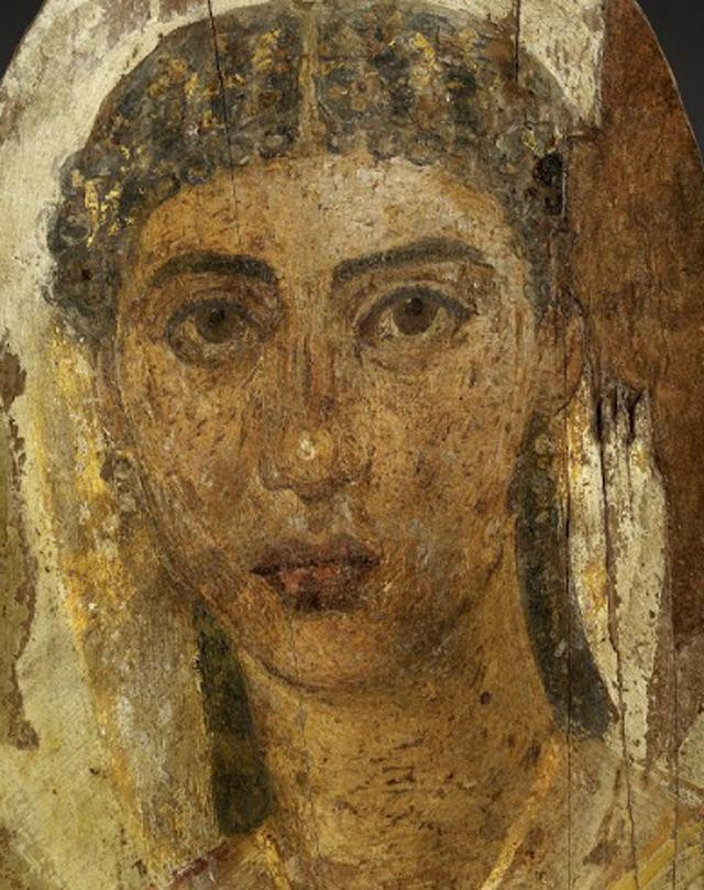 Mummy Portrait of a Young Woman--1st century AD