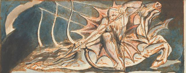 William Blake--Jerusalem Plate 39--By Satans Watch-fiends