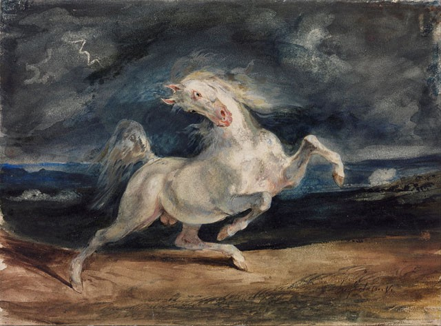 Eugene_Delacroix_-_Horse_Frightened_by_Lightning