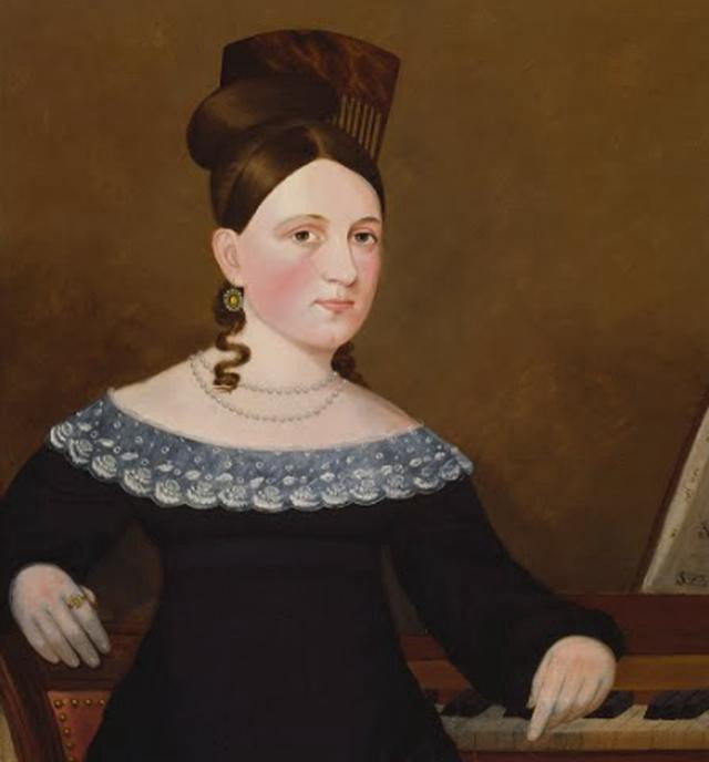 Portrait of a Woman at keyboard