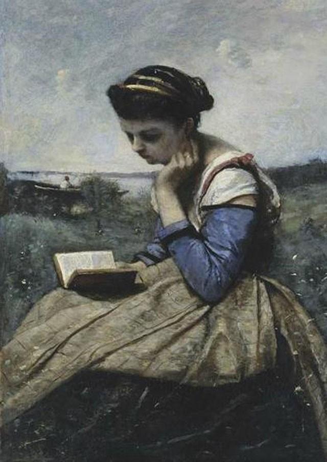women reading in art the hairpin