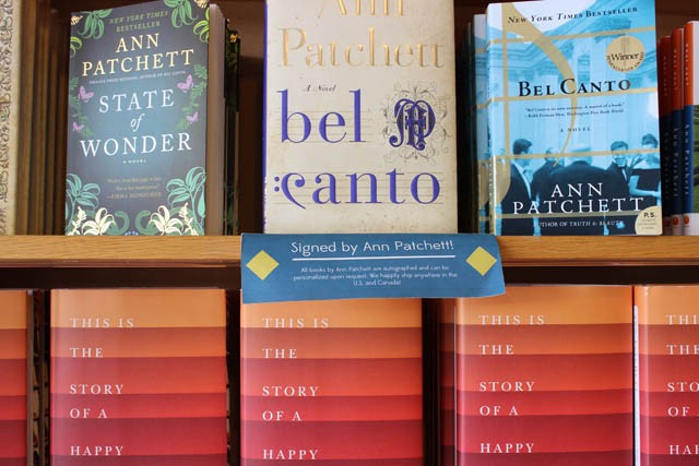 Ann Patchett's Signed Books
