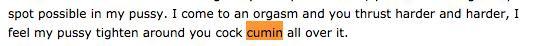 cumin all over it