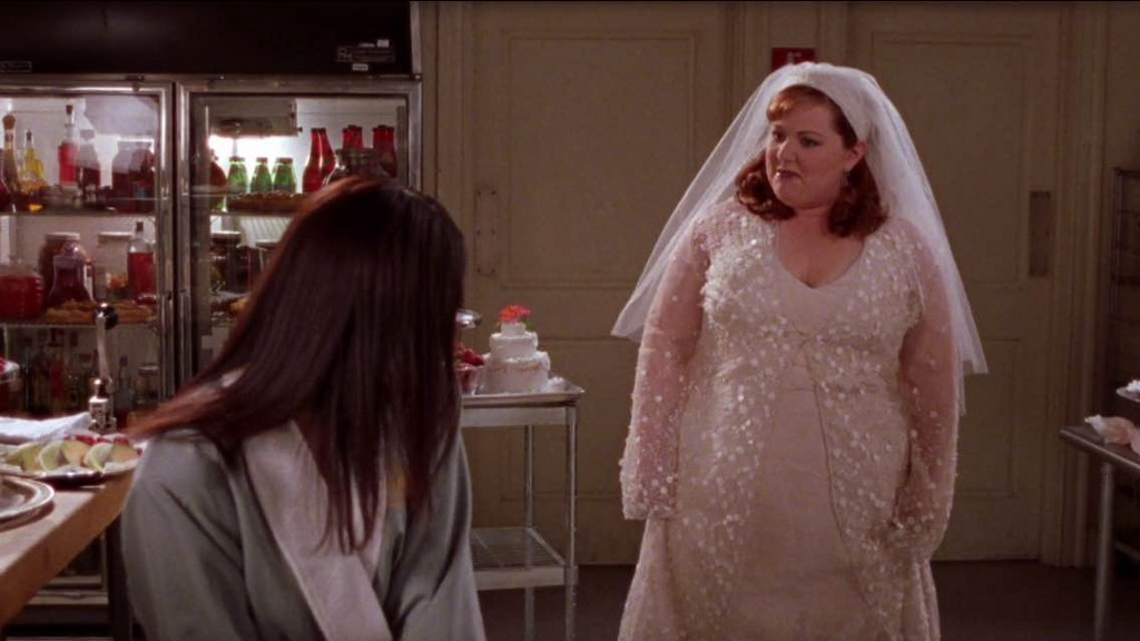 Lorelai Walks In On Sookie Her Wedding Dress Redecorating Own Cake A Fit Of Night Before Nervousness