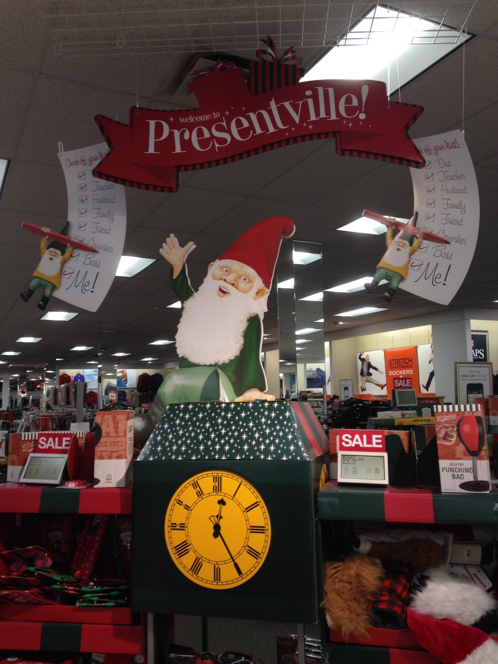 the gift department im sorry i mean presentville land of the gnomes without eyelids offered a great deal of temptation - Is Kohls Open On Christmas Day